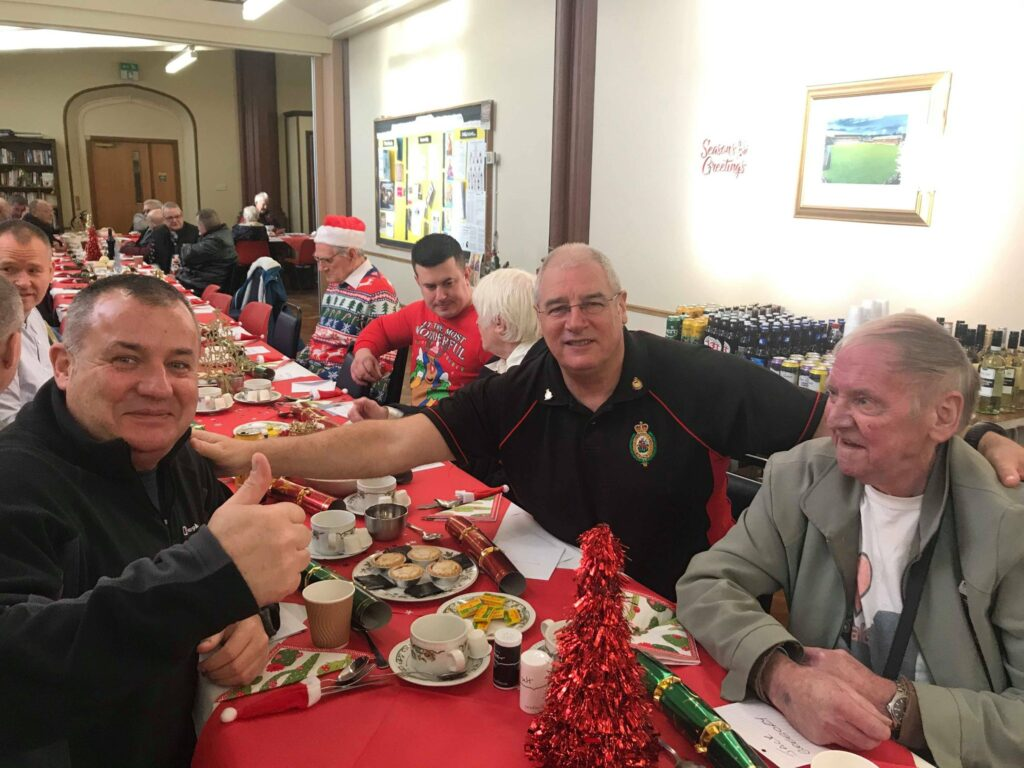 Veterans of the Armed Forces enjoying their Xmas meal