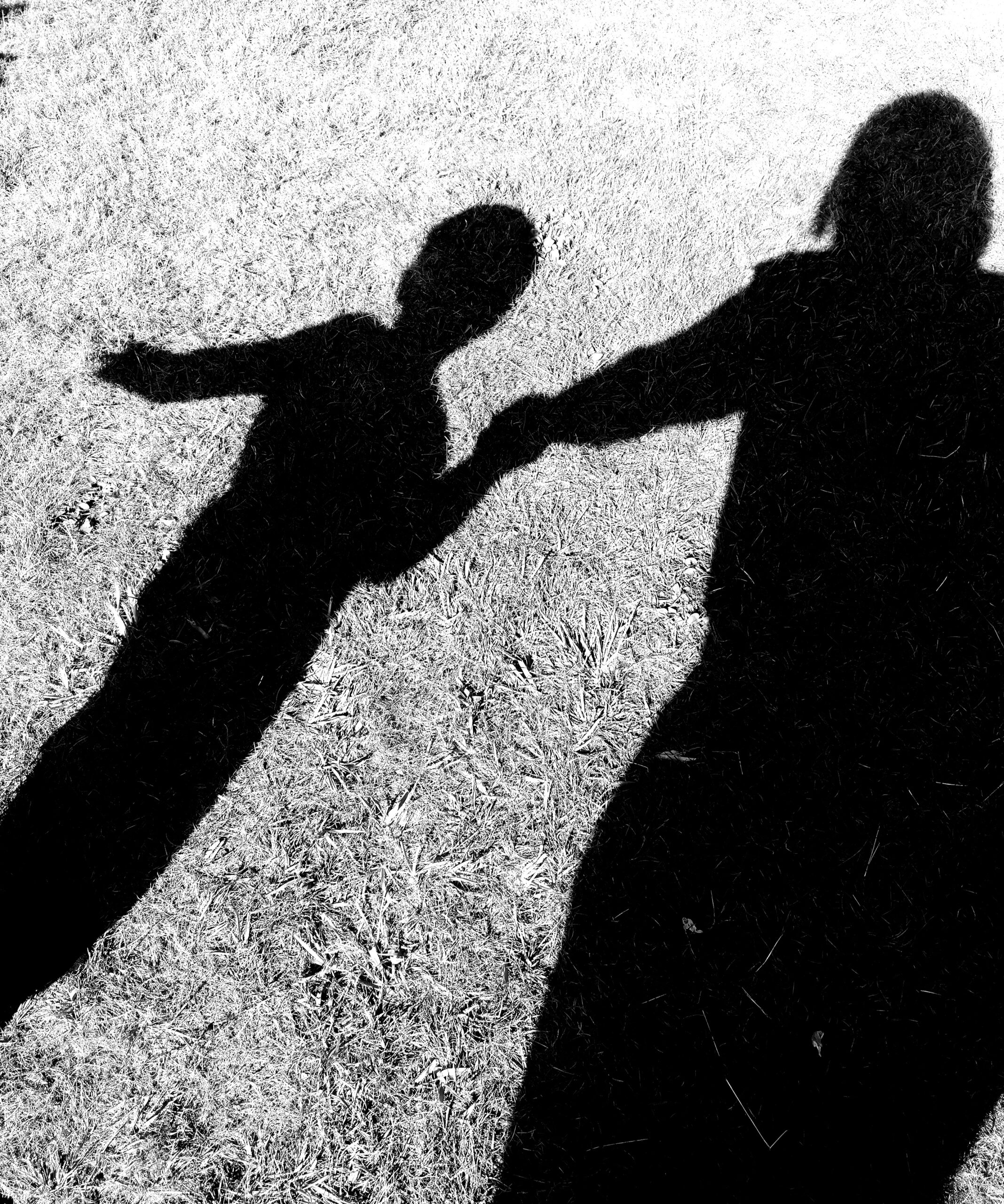 shadow image of Emma and her foster child