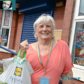 Yvonne Simms delivering food parcels throughout the pandemic